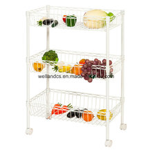 Epoxy Metal Wire Fruit and Vegetable Basket Holers pour affichage en gros