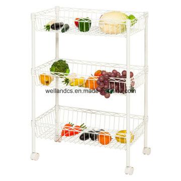 Epoxy Metal Wire Obst und Gemüse Korb Holers für Display Großhandel