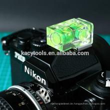 Kamera-Blasen-Wasserwaage mit 2 Durchstechflaschen