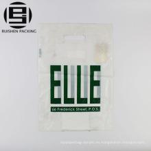 Barato color blanco promocional bolsas troqueladas
