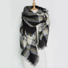 Élément chaud surdimensionné amzon hiver automne automne tisser Luxe couleur bloc viscose Unisexe carré foulard pashmina égypte