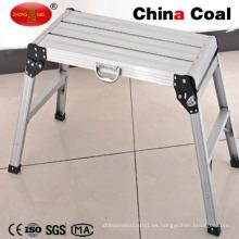 Plataforma de trabajo telescópica plegable de aluminio certificada Ce En131
