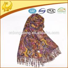 Couleur vive et grande usine gros chandails pashmina laine