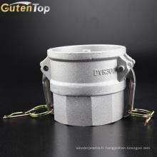 GutenTop haute qualité tuyau flexible en acier inoxydable Cam et rainure Camlock Quick Coupling