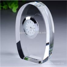 recuerdos de reloj de mesa de trofeo de reloj de cristal personalizado