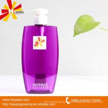 PETG púrpura botella de champú para el cabello