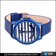 Hombre azul reloj de vela de cuarzo de moda, japan relojes Movt