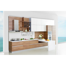 Weiß Mixed Hölzerne Farbe Wohnung Küche Kabinett