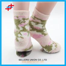 Hiver jeune fille nylon confortable épaisse chaussettes heureuses