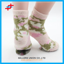 Winter young girl nylon cozy thick happy socks