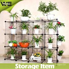 DIY Storage Cube Shelfs Metal Rack Garden Shelf/Balcony Shelf