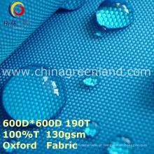 Tela lisa de Oxford tecida do poliéster para o saco de vestuário (GLLML274)