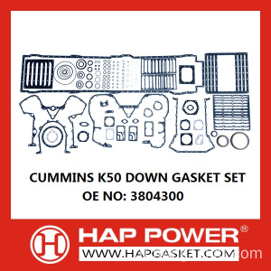 CUMMINS K50 DOWN GASKET SET 3804300
