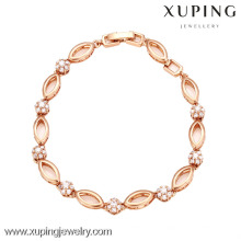 72869-Xuping Jewelry Fashion Woman Gold Plated Bracelet with Good Quality