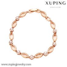 72869-Xuping Jóias Moda Mulher Banhado A Ouro Pulseira com Boa Qualidade