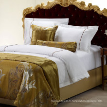 Collection d'hôtel Collection 500 Thread Count Ensemble de couette en coton brodé