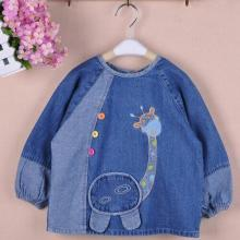 Lovely Denim Animal Printed Baby Unisex Outerwear