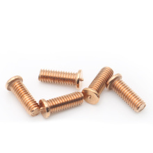Spot weld screw yellow zinc Brass welding screws
