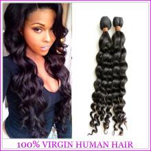 2015 Высокое Качество Человеческих Волос Глубокая Волна Волос Ткачество Мода Для Оптовой Продажи