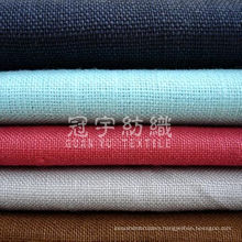 100% Polyester Linen Upholstery Fabric