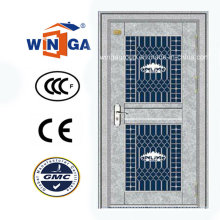 High Quality Sunproof with Glass Stainless Steel Security Door (W-GH-14)