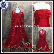 RSW477 rojo musulmán de dos piezas falda y vestido de boda de la blusa