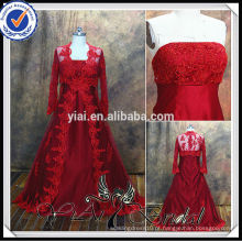 RSW477 Red Muslim Two Piece Juventude e vestido de noiva Blusa