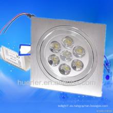 La venta caliente llevó la iluminación fluorescente de la iluminación 7w 6063 del downlight en China