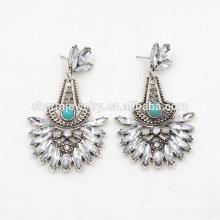 Boucles d'oreilles créatives turquoise élégantes de haute qualité pour femmes SSEH015