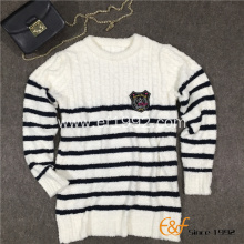 Black and White Stripe Sweater for Girl