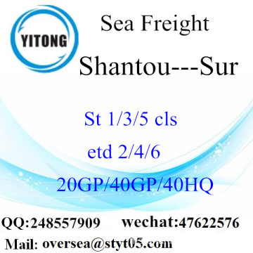 Shantou Port Sea Freight Shipping To Sur