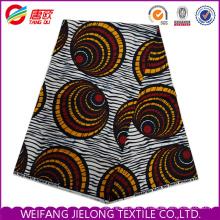 Tissu enduit de cire de tissu de toile de tissu de microfibre de polyester