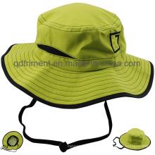 Открытый полиэстер Microfiber дышащий Fabrir Sport Bucket Hat (TMBH0783)
