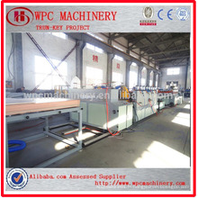 WPC board making machine / PVC add wood composite WPC board making machine