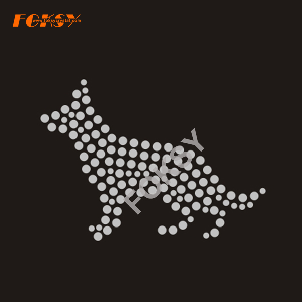 New Design Dog Rhinestone Iron on Transfer