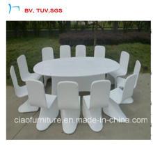 Chaise de salle à manger 12 places avec ensemble de salle à manger en rotin (2064T + 2072C)