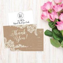 El saludo hecho a mano barato de la fuente de la fábrica de China le agradece las invitaciones de boda