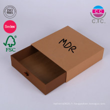 Boîte de carton de tiroir de boîte de cadeau de papier de glissement de prix d'usine de Dongguan