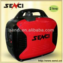 Générateur d'inverseur de moteur à essence 2KVA portable silencieux numérique