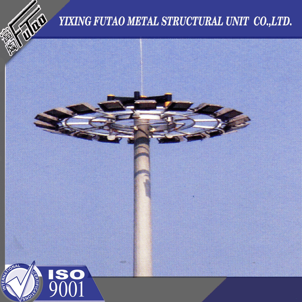 30M Galvanized With Electric Lifting System Lamp Poles
