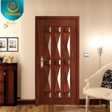 Puerta de seguridad de acero marrón claro estilo europeo