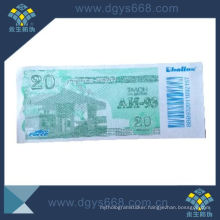 Security Fiber Paper Ticket Printing