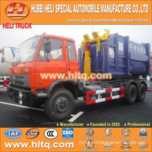 DONGFENG 6X4 18cubic hook lift garbage truck 210hp hot sale with high performance in China