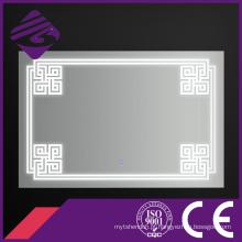 O diodo emissor de luz Jnh258 do banheiro iluminou o espelho da mobília da parede com tela de toque