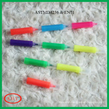 Multisection Mini Highlighter Marker Pen with Chisel Point and Colored Ink