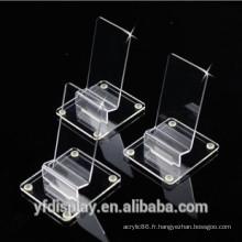 Support acrylique d'affichage de téléphone portable