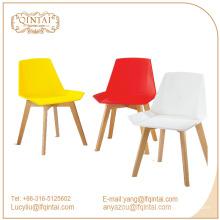 vente chaude autour de la chaise en plastique et en bois