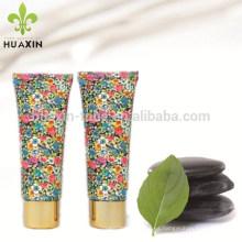 tubo ovalado de flores para el embalaje de cuidado de la piel
