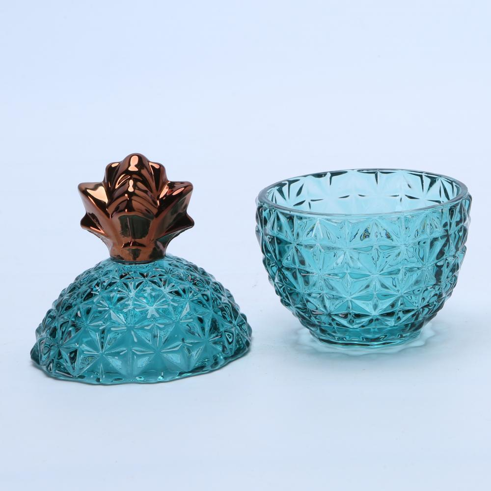 Luxury Copper Glass Pineapple Storage Jar