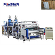 wood plastic composite products sex film extruder machine